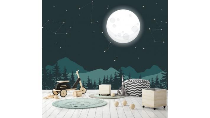 Murale 'Au clair de la lune'