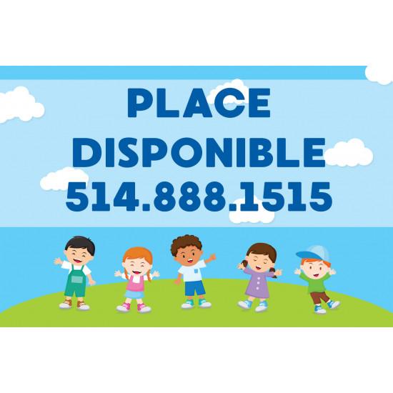 Affiche 'Place disponible'