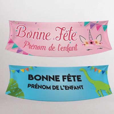 """Bannières de fête """"personnalisées'"""