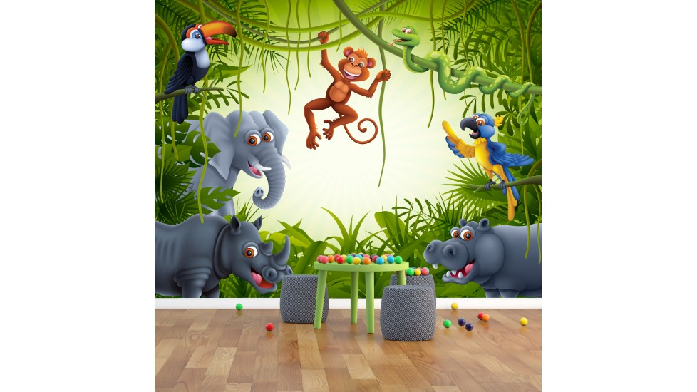 Murale 'La jungle'