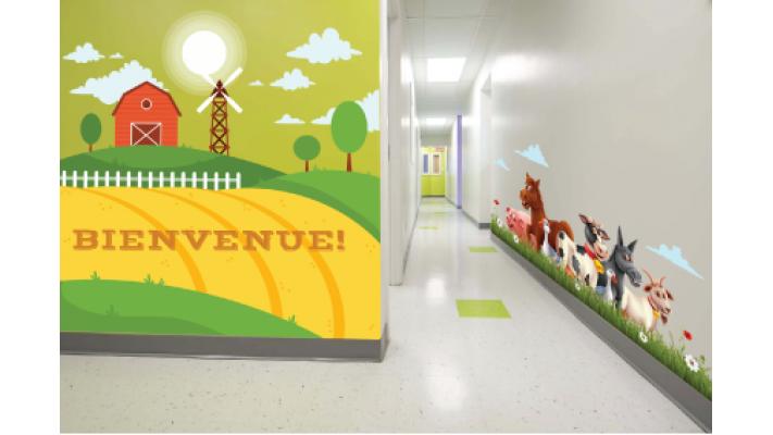 murale corridor ferme
